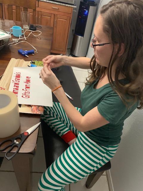 DIY Gift Cricut Weeding Text