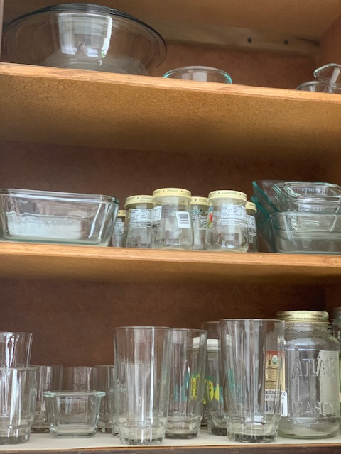reduce your waste by saving glass jars