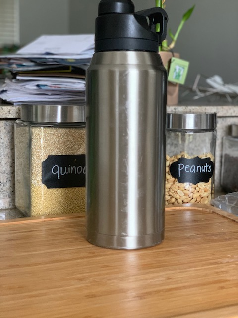 reduce your waste with a stainless steel water bottle