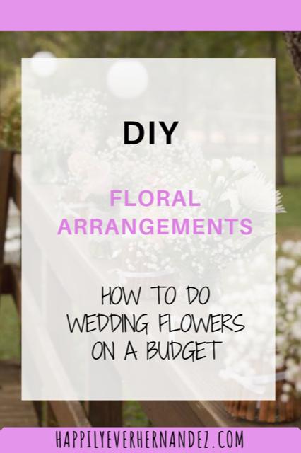 DIY Floral Arrangements in mason jars