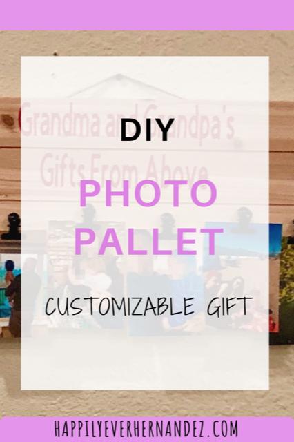 DIY Gift Hanging Photo Pallet
