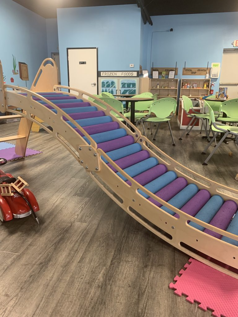 things to do in Austin with toddlers playing at almost grown play cafe