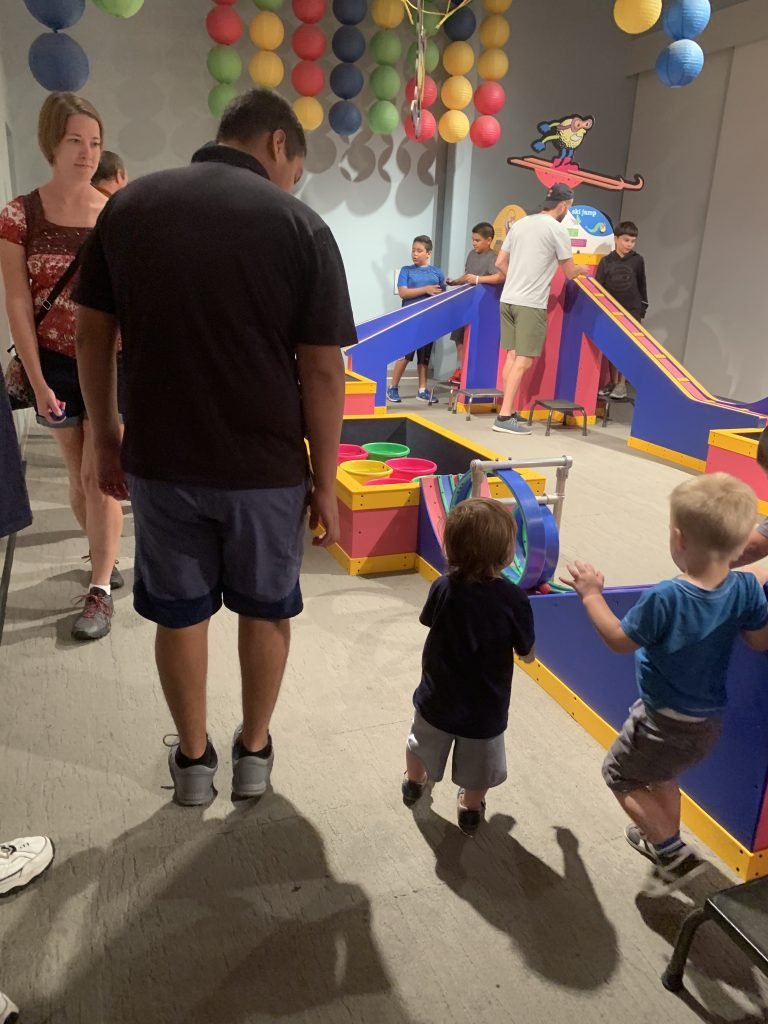 things to do in Austin with toddlers playing at the thinkery