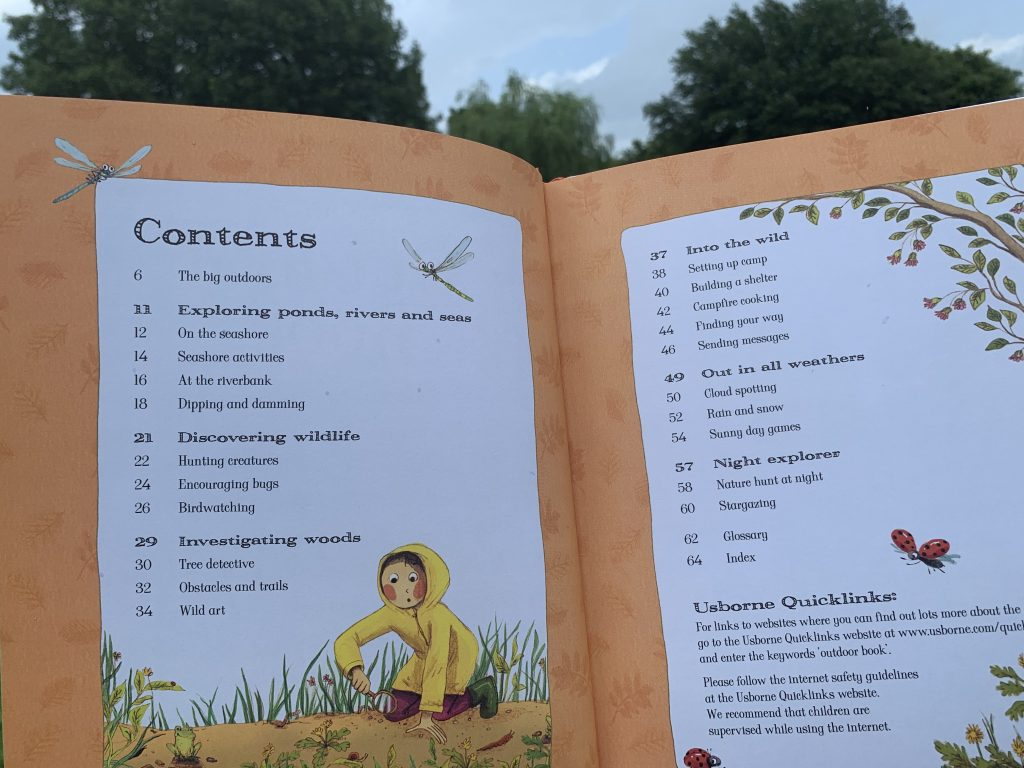 outdoor book table of contents